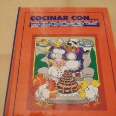 Libros de segunda mano: COCINAR CON.... BESUGO,ARROZ,POLLO,TERNERA,ESPAGUETIS,CERDO, ATUN.-FASCICULOS PRONTO-ENCUADERNADO. Lote 132250154