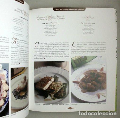 Libros de segunda mano: Cocina marinera en la hostelería andaluza. Junta de Andalucía. Recetario - Foto 2 - 132823654