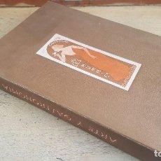 Libros de segunda mano: ARTE Y GASTRONOMIA, ESTUCHE CON DIPTICOS DE RECETAS CON CHAMPAN, 1990. Lote 133216238