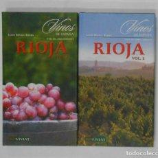 Libros de segunda mano: VINOS DE ESPAÑA. RIOJA. 2 TOMOS - BARBA, LLUÍS MANEL. TDK351. Lote 133243058
