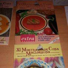 Libros de segunda mano: LOTE MOSTRA DE CUINA MALLORQUINA.. Lote 133486541
