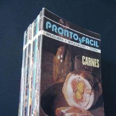 Libros de segunda mano: PRONTO Y FACIL / BRUGUERA DIVULGACION AÑO 1977 / 48 EJEMPLARES ( COMPLETA ) COCINA - SALUD -HOGAR. Lote 135594110