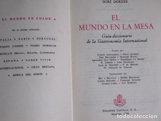El Mundo en la mesa. Guia diccionario de la gastronomía internacional.  Madrid, 1956