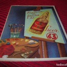 Libros de segunda mano: PRECIOSO LIBRITO.EXPOSICIÓN DE FÓRMULAS DEL LICOR 43.. Lote 137742502