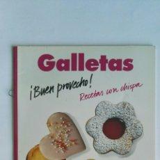 Libros de segunda mano: GALLETAS ¡BUEN PROVECHO! RECETAS CON CHISPA. Lote 138123776