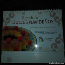Libros de segunda mano: RECETARIO DE DULCES NAVIDEÑOS. Lote 138683658