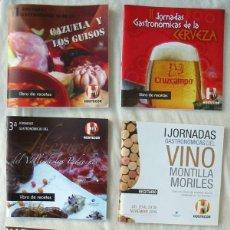 Libros de segunda mano - LOTE DE 6 RECETARIOS JORNADAS GASTRONÓMICAS HOSTECOR CÓRDOBA - VER DESCRIPCIÓN Y FOTOS - 139395062