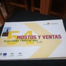 Libros de segunda mano: MOSTOS Y VENTAS DE LA CAMPIÑA Y MARCO DE JEREZ CADIZ VINOS JEREZ. Lote 140797390
