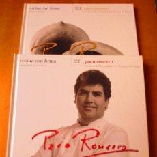 Libros de segunda mano: COCINA CON FIRMA. PACO RONCERO. TOMOS 21 Y 22. Lote 141907358