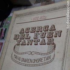 Libros de segunda mano - Acerca del buen yantar. Alberto Martinez. - 144027217