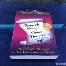 Libros de segunda mano: DIANA BELLUCCI. FRENCH, GERMAN, AND ITALIAN WINE NAMES. 2003. HOW TO PRONOUNCE. Lote 145962850