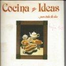 Libros de segunda mano: COCINA CON IDEAS. TARTAS Y BIZCOCHOS. 1985. Lote 146391390