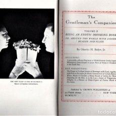 Libros de segunda mano: 2 LIBRO EN ESTUCHE,COCINA-GASTRONOMIA Y COCTELES EXOTICOS,EL ACOMPAÑANTE DEL CABALLERO,AÑO 1946,RARO. Lote 146439250