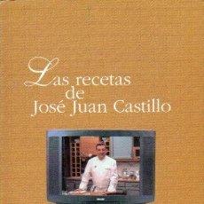 Libros de segunda mano: LAS RECETAS DE JOSE JUAN CASTILLO ( CASA NICOLASA- SAN SEBASTIAN). Lote 148599874