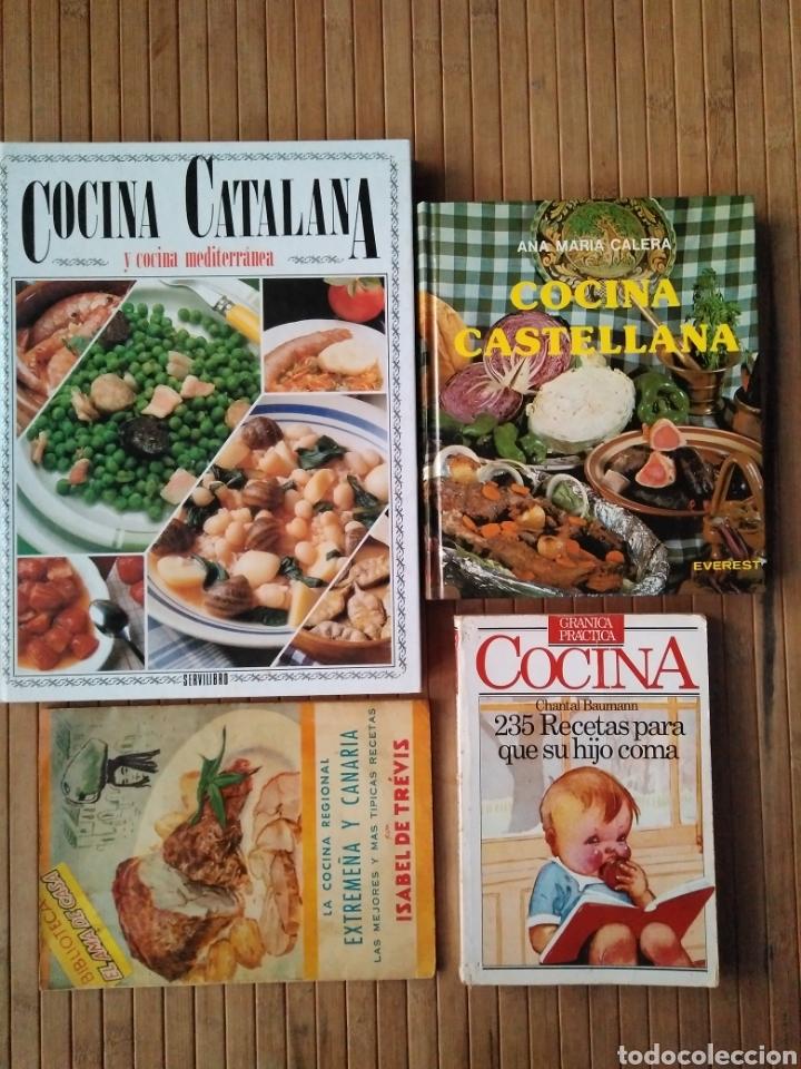 Lote 4 Libros De Cocina Catalana Castellana Extremeña Canarias Recetas Hijo