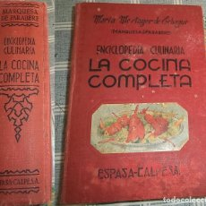 Libros de segunda mano: COCINA COMPLETA ENCICLOPEDIA CULINARIA Mª MESTAYER DE ECHAGUE MARQUESA DE PARABERE . Lote 147538246