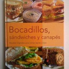 Libros de segunda mano: BOCADILLOS,SÁNDWICHES Y CANAPÉS - RBA EDITORES Y CÍRCULO DE LECTORES - AÑO 2001. Lote 147553602