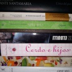 Libros de segunda mano: LOTE DE LIBROS DE ALTA COCINA. VARIOS DESCATALOGADOS. DIFICILES Y BUSCADOS.. Lote 147592096