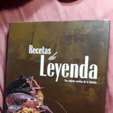 Libros de segunda mano: RECETAS DE LEYENDA, DE MIKEL CORCUERA. LAS MEJORES RECETAS DE LA HISTORIA.. Lote 148588302