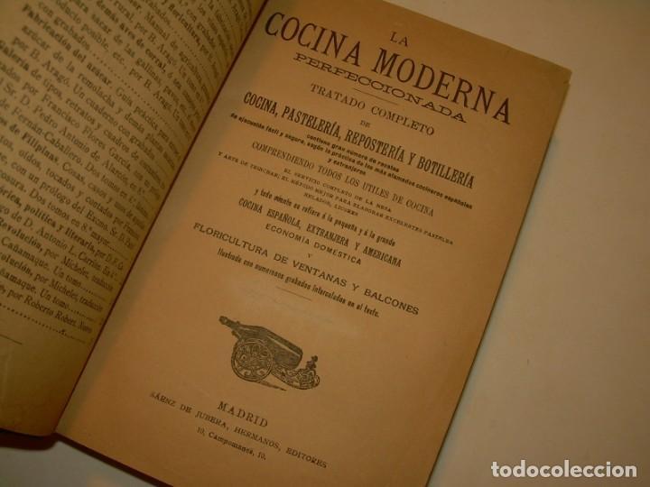 LA COCINA MODERNA PERFECCIONADA.COCINA,PASTELERIA,REPOSTERIA Y BOLLERIA.CON ILUSTRACIONES. (Libros de Segunda Mano - Cocina y Gastronomía)
