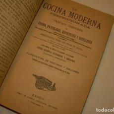 Libros de segunda mano: LA COCINA MODERNA PERFECCIONADA.COCINA,PASTELERIA,REPOSTERIA Y BOLLERIA.CON ILUSTRACIONES.. Lote 148591914