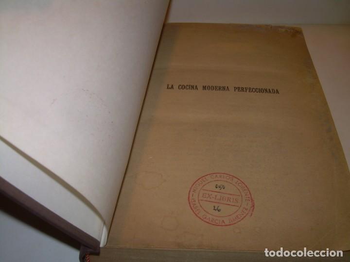 Libros de segunda mano: LA COCINA MODERNA PERFECCIONADA.COCINA,PASTELERIA,REPOSTERIA Y BOLLERIA.CON ILUSTRACIONES. - Foto 2 - 148591914