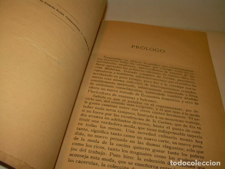 Libros de segunda mano: LA COCINA MODERNA PERFECCIONADA.COCINA,PASTELERIA,REPOSTERIA Y BOLLERIA.CON ILUSTRACIONES. - Foto 3 - 148591914