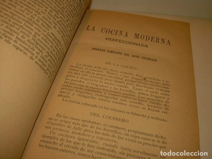 Libros de segunda mano: LA COCINA MODERNA PERFECCIONADA.COCINA,PASTELERIA,REPOSTERIA Y BOLLERIA.CON ILUSTRACIONES. - Foto 4 - 148591914