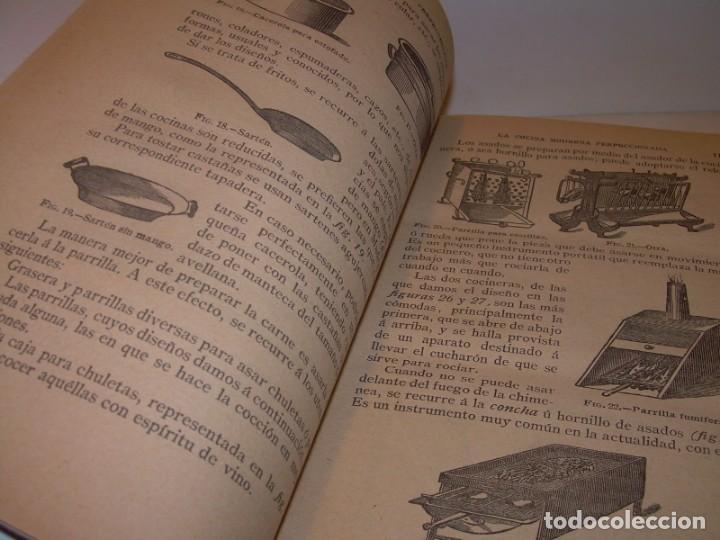 Libros de segunda mano: LA COCINA MODERNA PERFECCIONADA.COCINA,PASTELERIA,REPOSTERIA Y BOLLERIA.CON ILUSTRACIONES. - Foto 7 - 148591914
