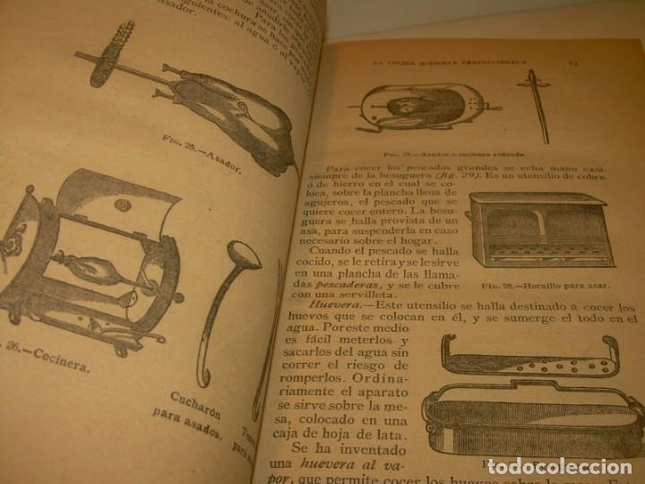 Libros de segunda mano: LA COCINA MODERNA PERFECCIONADA.COCINA,PASTELERIA,REPOSTERIA Y BOLLERIA.CON ILUSTRACIONES. - Foto 8 - 148591914