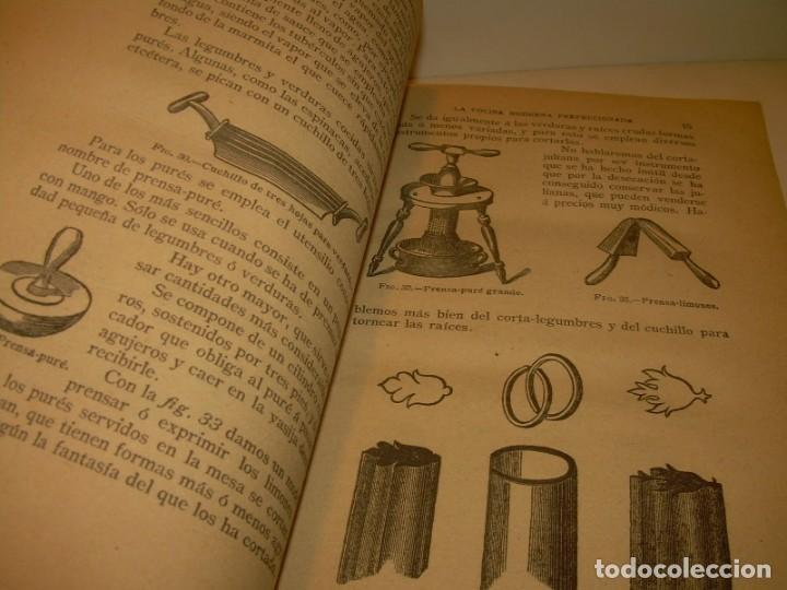 Libros de segunda mano: LA COCINA MODERNA PERFECCIONADA.COCINA,PASTELERIA,REPOSTERIA Y BOLLERIA.CON ILUSTRACIONES. - Foto 9 - 148591914