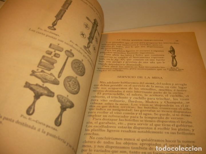 Libros de segunda mano: LA COCINA MODERNA PERFECCIONADA.COCINA,PASTELERIA,REPOSTERIA Y BOLLERIA.CON ILUSTRACIONES. - Foto 11 - 148591914