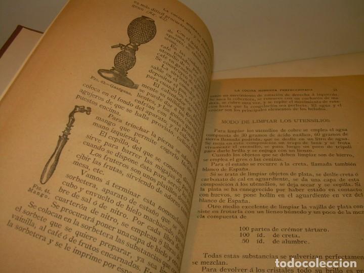 Libros de segunda mano: LA COCINA MODERNA PERFECCIONADA.COCINA,PASTELERIA,REPOSTERIA Y BOLLERIA.CON ILUSTRACIONES. - Foto 12 - 148591914