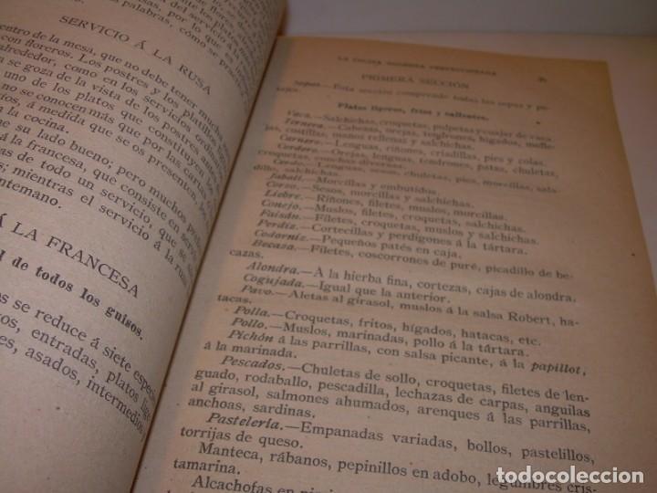 Libros de segunda mano: LA COCINA MODERNA PERFECCIONADA.COCINA,PASTELERIA,REPOSTERIA Y BOLLERIA.CON ILUSTRACIONES. - Foto 14 - 148591914