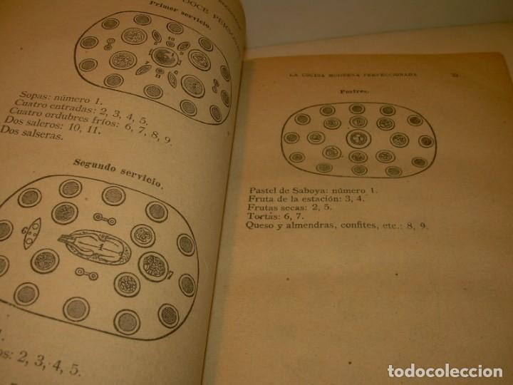 Libros de segunda mano: LA COCINA MODERNA PERFECCIONADA.COCINA,PASTELERIA,REPOSTERIA Y BOLLERIA.CON ILUSTRACIONES. - Foto 15 - 148591914
