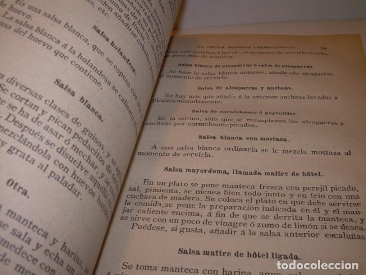 Libros de segunda mano: LA COCINA MODERNA PERFECCIONADA.COCINA,PASTELERIA,REPOSTERIA Y BOLLERIA.CON ILUSTRACIONES. - Foto 17 - 148591914