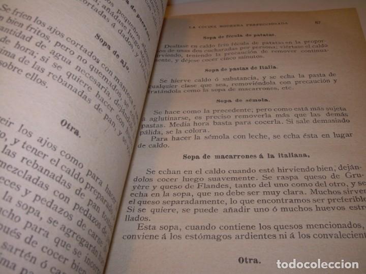 Libros de segunda mano: LA COCINA MODERNA PERFECCIONADA.COCINA,PASTELERIA,REPOSTERIA Y BOLLERIA.CON ILUSTRACIONES. - Foto 18 - 148591914