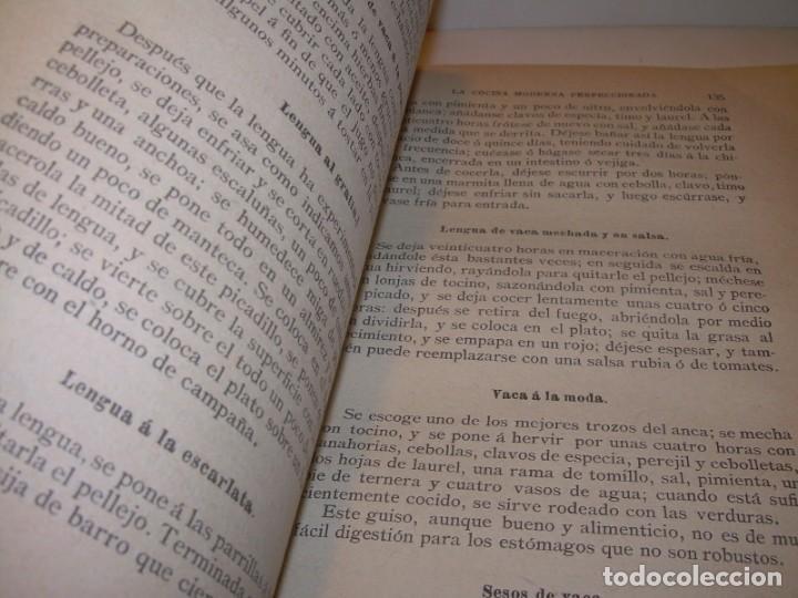 Libros de segunda mano: LA COCINA MODERNA PERFECCIONADA.COCINA,PASTELERIA,REPOSTERIA Y BOLLERIA.CON ILUSTRACIONES. - Foto 19 - 148591914