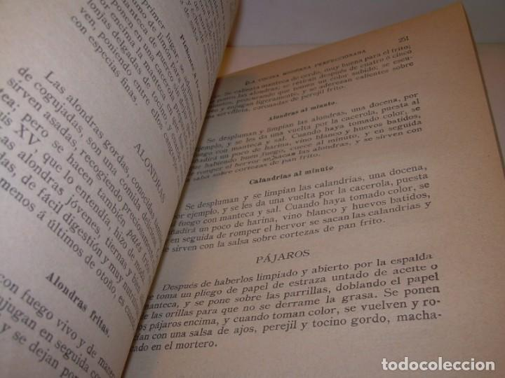 Libros de segunda mano: LA COCINA MODERNA PERFECCIONADA.COCINA,PASTELERIA,REPOSTERIA Y BOLLERIA.CON ILUSTRACIONES. - Foto 20 - 148591914