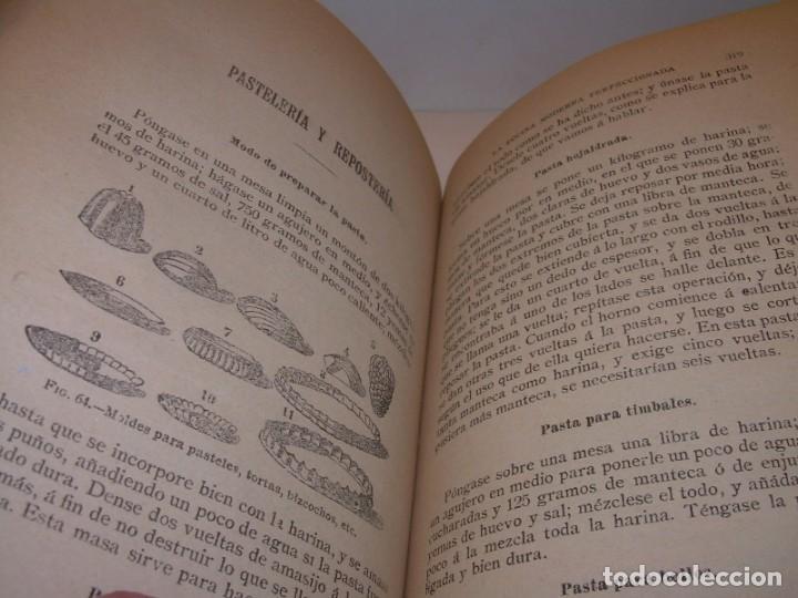 Libros de segunda mano: LA COCINA MODERNA PERFECCIONADA.COCINA,PASTELERIA,REPOSTERIA Y BOLLERIA.CON ILUSTRACIONES. - Foto 21 - 148591914