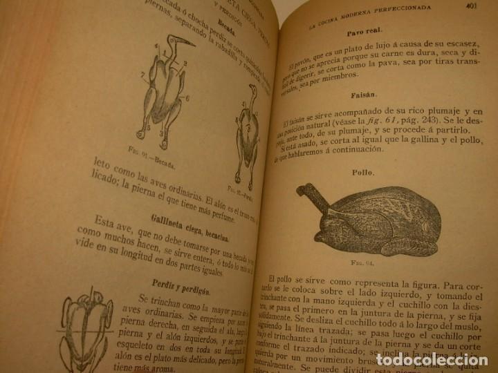 Libros de segunda mano: LA COCINA MODERNA PERFECCIONADA.COCINA,PASTELERIA,REPOSTERIA Y BOLLERIA.CON ILUSTRACIONES. - Foto 23 - 148591914