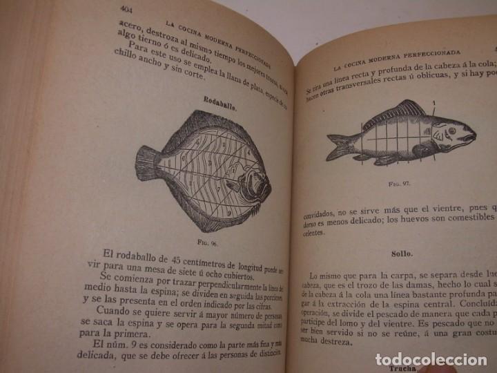 Libros de segunda mano: LA COCINA MODERNA PERFECCIONADA.COCINA,PASTELERIA,REPOSTERIA Y BOLLERIA.CON ILUSTRACIONES. - Foto 24 - 148591914