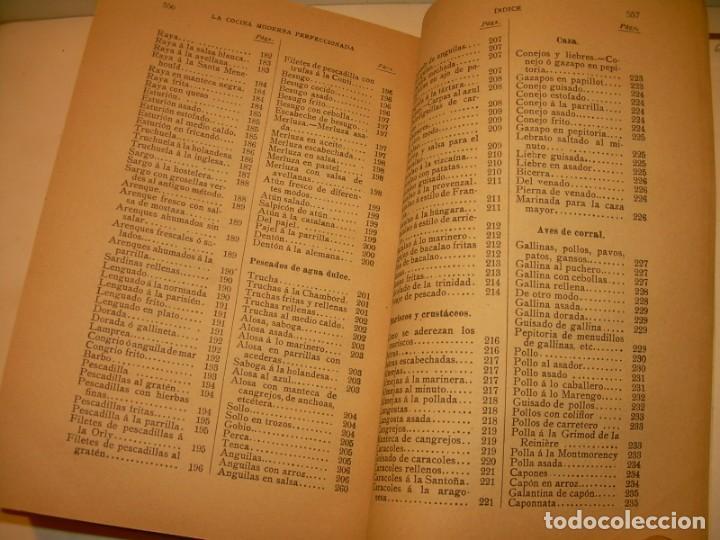 Libros de segunda mano: LA COCINA MODERNA PERFECCIONADA.COCINA,PASTELERIA,REPOSTERIA Y BOLLERIA.CON ILUSTRACIONES. - Foto 33 - 148591914