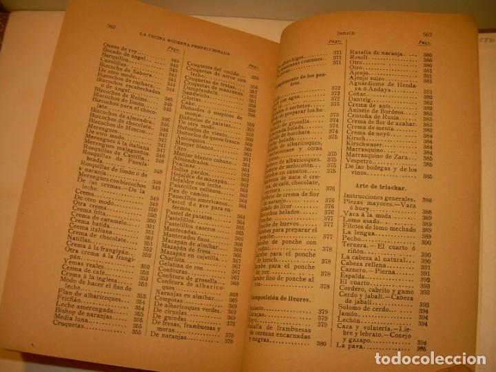 Libros de segunda mano: LA COCINA MODERNA PERFECCIONADA.COCINA,PASTELERIA,REPOSTERIA Y BOLLERIA.CON ILUSTRACIONES. - Foto 36 - 148591914