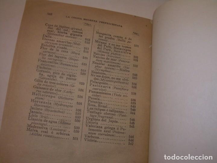 Libros de segunda mano: LA COCINA MODERNA PERFECCIONADA.COCINA,PASTELERIA,REPOSTERIA Y BOLLERIA.CON ILUSTRACIONES. - Foto 39 - 148591914