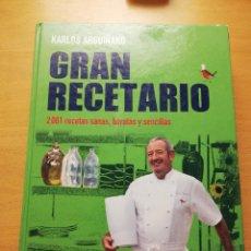 Libros de segunda mano: GRAN RECETARIO. 2001 RECETAS SANAS, BARATAS Y SENCILLAS (KARLOS ARGUIÑANO). Lote 149250194
