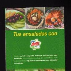 Libros de segunda mano: TUS RECETAS DE ENSALADAS CON ARIEL · RANDOM HOUSE MONDADORI, 2005 (94 PÁGINAS) - PESO: 111 GRAMOS -. Lote 151513266