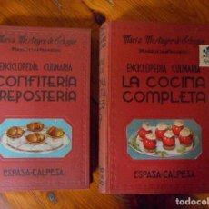 Libros de segunda mano: ENCICLOPEDIA CULINARIA / MARIA MESTAYER / CONFITERIA Y REPOSTERIA / LA COCINA COMPLETA / 1955 . Lote 151534698