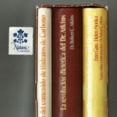 Libros de segunda mano: LA REVOLUCIÓN DIETÉTICA DEL DR. ATKINS / 3 VOLÚMENES CON ESTUCHE . Lote 151536986
