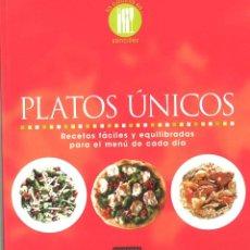 Libros de segunda mano: PLATOS ÚNICOS. 2008. Lote 151903798